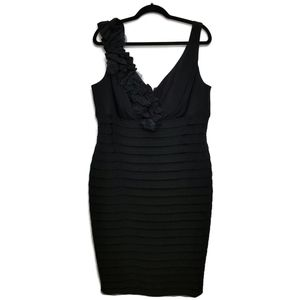 XSCAPE by Joanna Chen Black Sleeveless Dress 16W